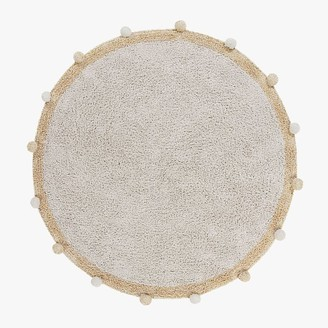 Pottery Barn Teen Pom-Pom Round Washable Cotton Rug