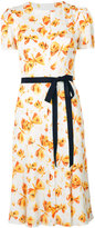 Carolina Herrera butterfly sash shift dress