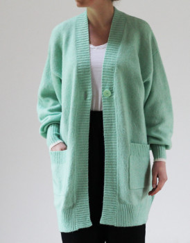 Lollys Laundry - Pale Green Carrie Midi Cardigan - X Small