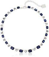 """Anne Klein Bright Nights Ii"""" Silver-Tone Blue All Around Collar Necklace, 16.5"""" + 3.5"""" Extender"""