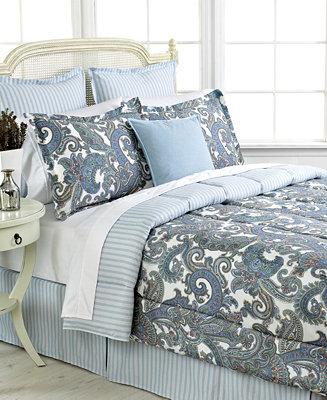 Lauren Ralph Lauren CLOSEOUT! Home Harbor Island Queen Comforter Set