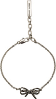 Marc Jacobs Pave Twisted Bow Chain Bracelet