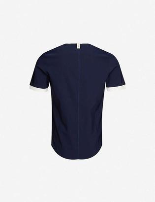 Prevu Contrast collar shell T-shirt