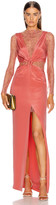 Dion Lee Marrow Lace Silk Knot Gown in Rose | FWRD