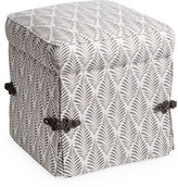 Miles Talbott Collection Arlo Ottoman, Gray Hillside