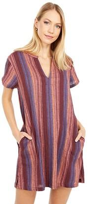 Rip Curl Golden Days Stripe Dress (Multi) Women's Clothing
