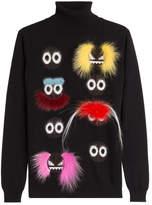 Fendi Embellished Wool Turtleneck