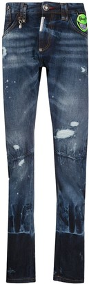 Philipp Plein Evil Smile low rise jeans