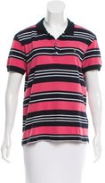Pierre Balmain Short Sleeve Striped Top