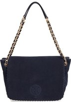 Tory Burch 'Small Marion' Suede Shoulder Bag