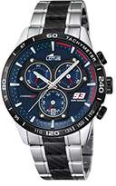 Lotus Marc Marquez Collection 2016 Men's Quartz Watch with Blue Dial Chronograph Display and Multicolour Stainless Steel Bracelet 18258/1