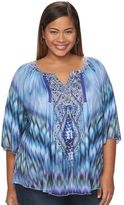Apt. 9 Plus Size Printed Peasant Top