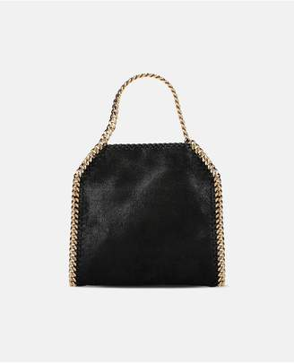 Stella McCartney Black Falabella Shaggy Deer Mini Tote