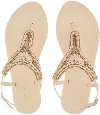 Accessorize Cairo Raffia Thong Sandals - Natural