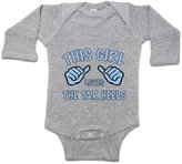 Moment Gear This Girl Loves The Tar Heels Infant Long-Sleeve Onesie 6M
