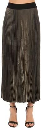 Poiret Pleated Lame Skirt