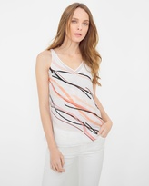 White House Black Market Stripe Embellished Top