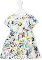 Roberto Cavalli floral print part dress - kids - Silk/Cotton/Polyester - 3 mth