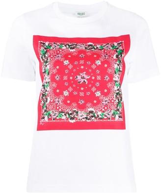 Kenzo scarf-print cotton T-shirt