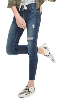 Mudd Girls 6-16 & Plus Size Midrise Double Button Jeggings
