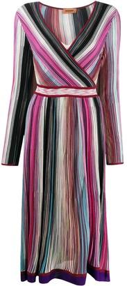 Missoni Ribbed Knit Wrap Dress