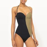 La Redoute Collections Two-Tone Bandeau Swimsuit