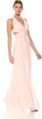 Aidan Mattox Aidan Women's Halter Cut Out Gown