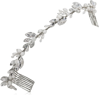 Crystal Pearl Brides & Hairpins Themis Crystal & Pearl Halo Comb