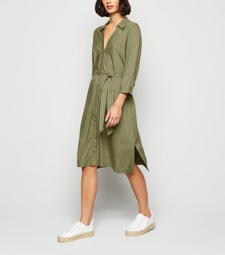 New Look JDY Stripe Midi Shirt Dress
