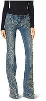 Michael Kors Paisley Studded Flared Jeans