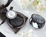 "Kate Aspen Kateaspen ""Reflections"" Elegant Black-and-White Mirror Compact - Set of 25"
