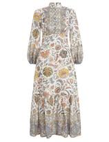 Zimmermann Edie Border High Neck Dress