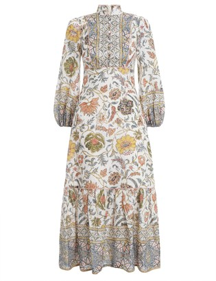 Zimmermann Edie Border High Neck Dress