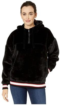 UGG Kailani Faux-Sherpa Hoodie (Black) Women's Clothing