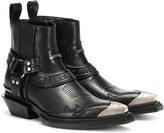 Balenciaga Santiag Harness leather ankle boots