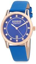 Versus By Versace Women's Stainless Steel & Leather Strap Watch