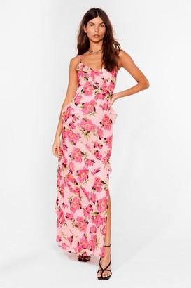 Nasty Gal Womens Bud I Like It Floral Maxi Dress - Pink - 4