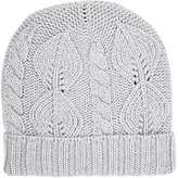 Barneys New York Men's Cable-Knit Beanie-GREY