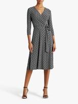 Ralph Lauren Ralph Carlyna Abstract Print Midi Dress, Black/Colonial Cream