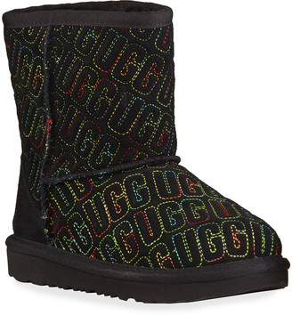 UGG Girl's Classic II Logo Stitch Graphic Short Boots, Baby/Toddler