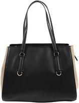 London Fog Black & Taupe Daniela Double Shoulder Bag