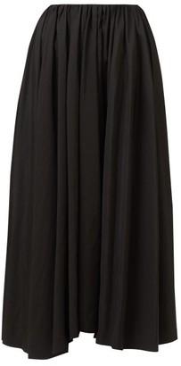 Jil Sander Nastya Asymmetric-hem Voile Midi Skirt - Black