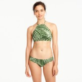 J.Crew Cropped halter swim top in palm leaf print