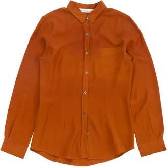 Golden Goose Orange Silk Tops