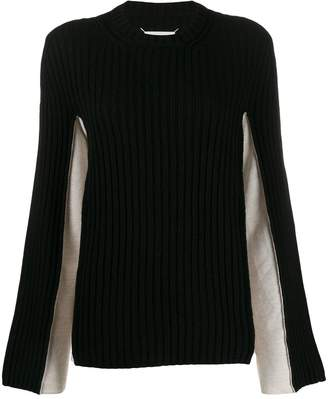 Maison Margiela two-toned ribbed jumper