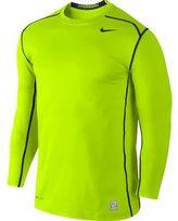 Nike Mens Dri-Fit Hyperwarm Pro Combat 2.0 Fitted Training Shirt-Neon Yellow/Black-2XL