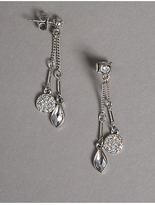 Autograph Double Drop Earrings MADE WITH SWAROVSKI® ELEMENTS