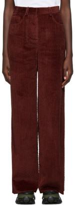 M Missoni Burgundy Corduroy Trousers