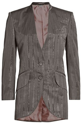 Gucci Oversized Moire Single-Breasted Jacket