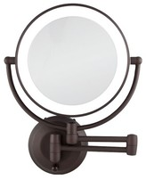 Zadro Dual-Sided LED Lighted 1X/10X Mirror - Oil-Rubbed Bronze